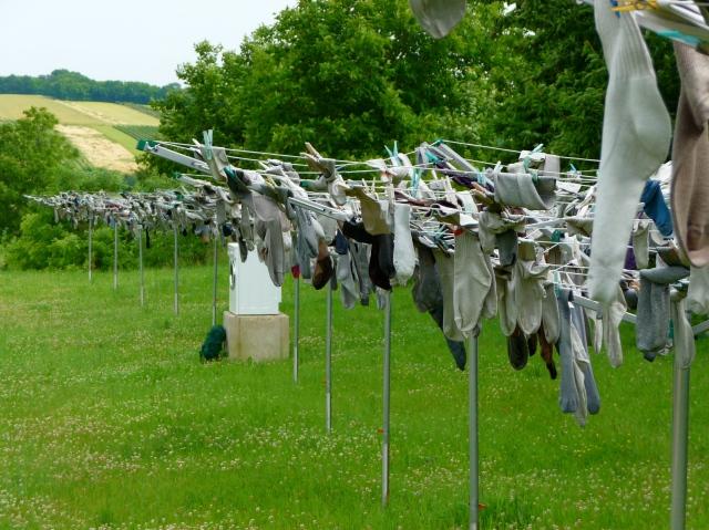 Sock Memorial and Washing Machine Shrine