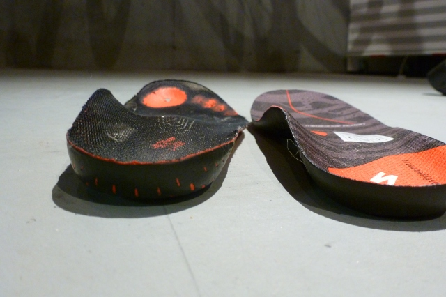 2001 Pro Body Geometry vs S-Works 2013 Insole