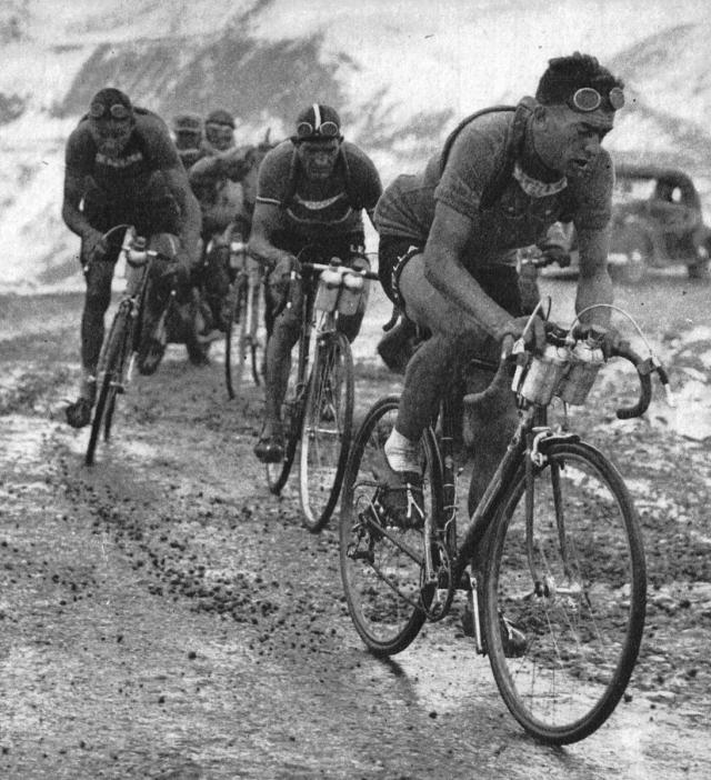 Gino Bartali, pro-cyclist who then turned his skill to help the WWII resistance.